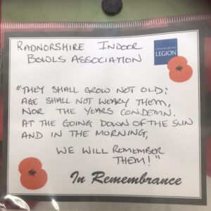 Mike Evans RIBA Manager representing the club at Llandrindod Wells Remembrance Day Service 08/11/2020